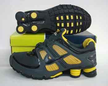 low priced d39c2 3ffd8 Chaussures Nike Shox Turbo Homme S38 Noir Jaune