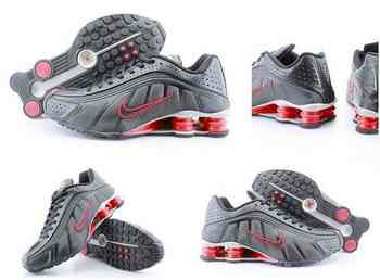 finest selection 36c94 3f412 Chaussures Nike Shox R4 Homme H27 Rouge Gris