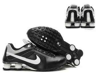 official photos b4f6e a3107 Chaussures Nike Shox R4 Homme H1 Noir Blanc