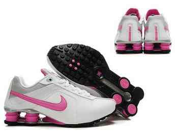 brand new b5a3c 17d31 Chaussures Nike Shox R4 Femme F8 Rose Blanc