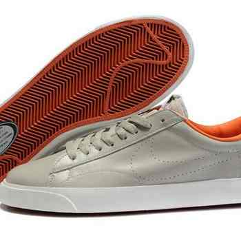 purchase cheap 11530 35bb0 Boutique Nike Blazer Low Hommes Gris Orange