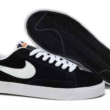 sports shoes ca013 dd56b Dernières Nike Blazer Low Premium Chaussures Retro Noir Blanc Po